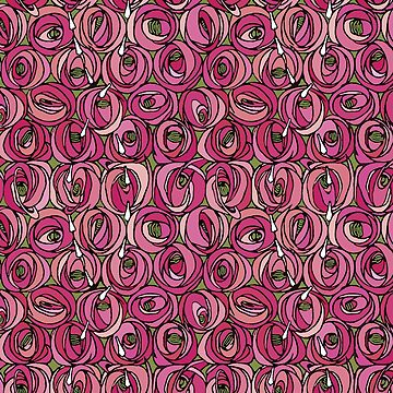 "Charles Rennie Mackintosh ""Roses and teardrops"" edited 2. by ALD1"