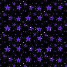 Blue leopard print stars by chihuahuashower
