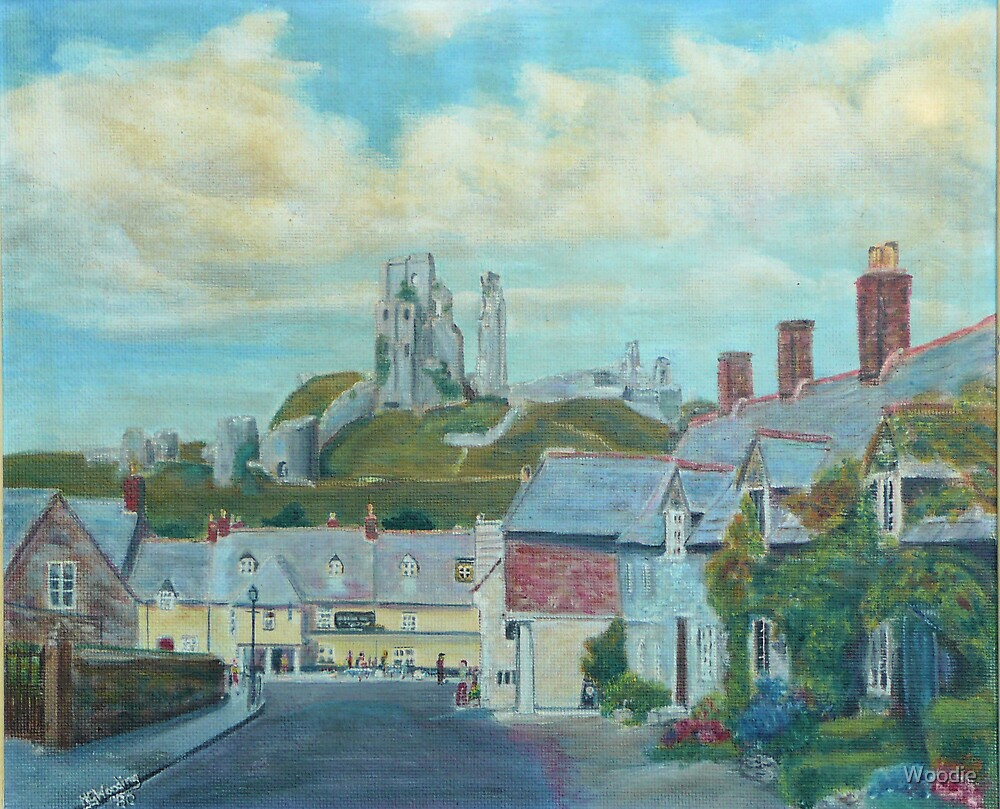 Corfe Castle by Woodie