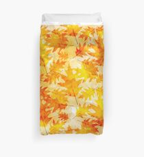 Oak Leaves Pattern Duvet Cover