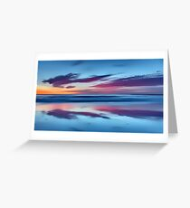 Purple Clouds on a Blue Beach Greeting Card