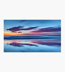 Purple Clouds on a Blue Beach Photographic Print