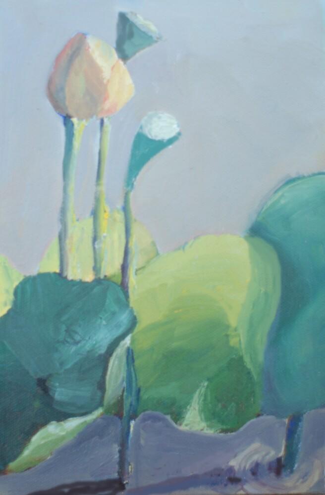 Lotus at Dawn by Phyllis Dixon