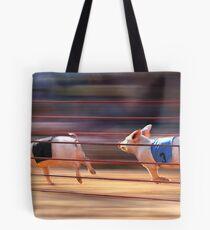 Pig Racing Tote Bag