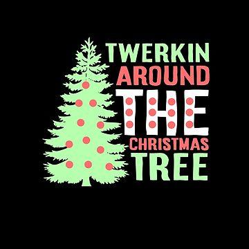 Twerking around Christmas Tree by NovaPaint