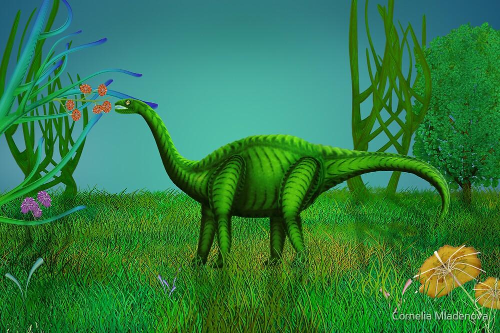Hungry Dino by Cornelia Mladenova