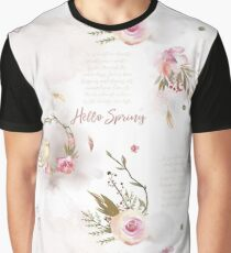 Hello Spring 01 with Text Graphic T-Shirt