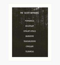 The Seven Wonders Art Print