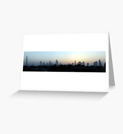 Dubai at sunset Greeting Card