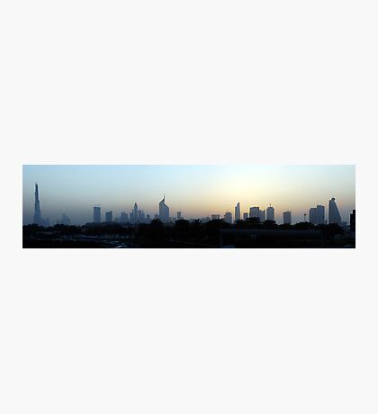 Dubai at sunset Photographic Print