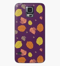 Autumn Leaves in purple Case/Skin for Samsung Galaxy