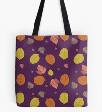 Autumn Leaves in purple Tote Bag