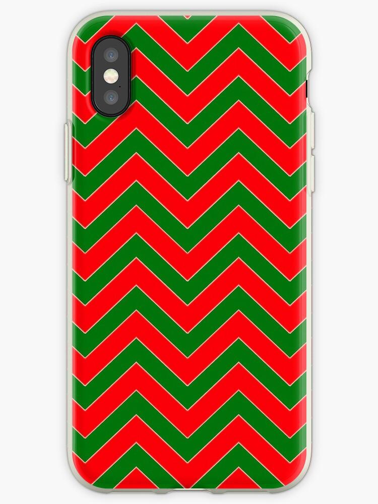 Christmas Red & Green Chevron by podartist