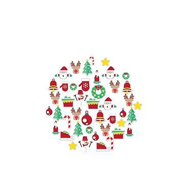 jacoolda Christmas Decoration Tshirt by jacoolda