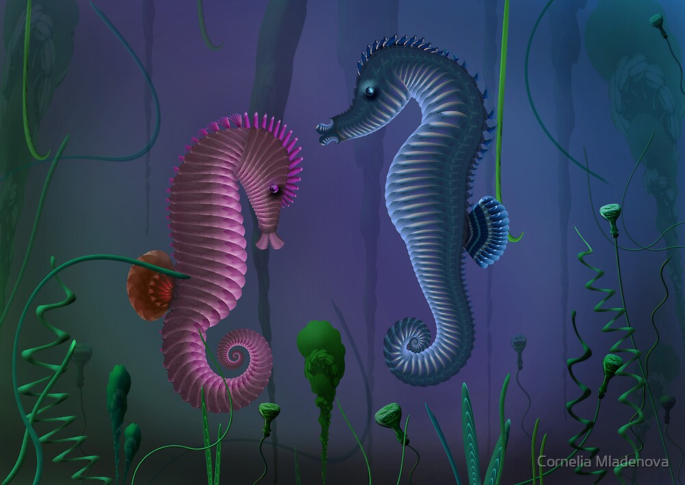 Sea Horses by Cornelia Mladenova