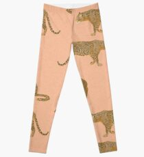 sunset leopard  Leggings