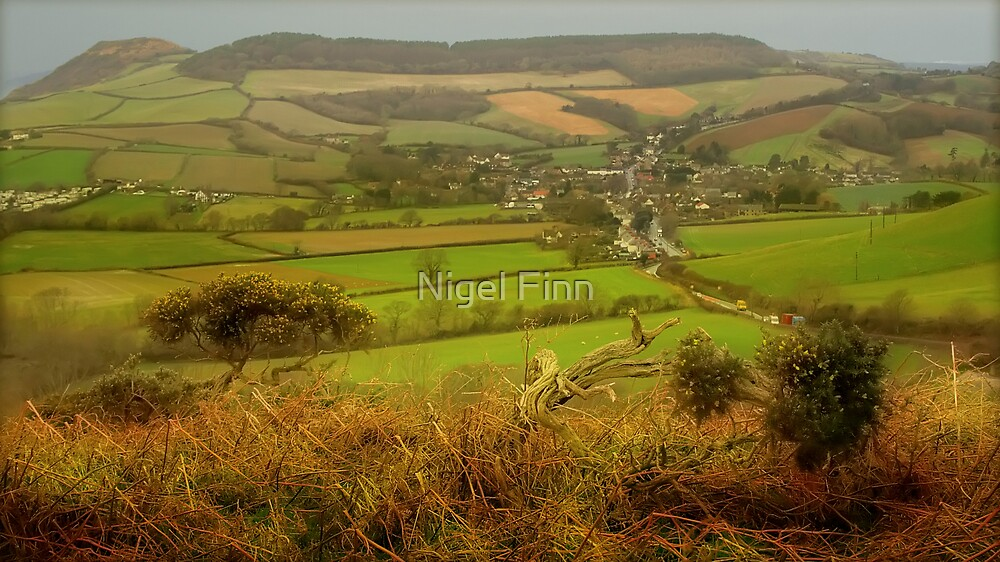 Above A Village, Burning Bright by Nigel Finn