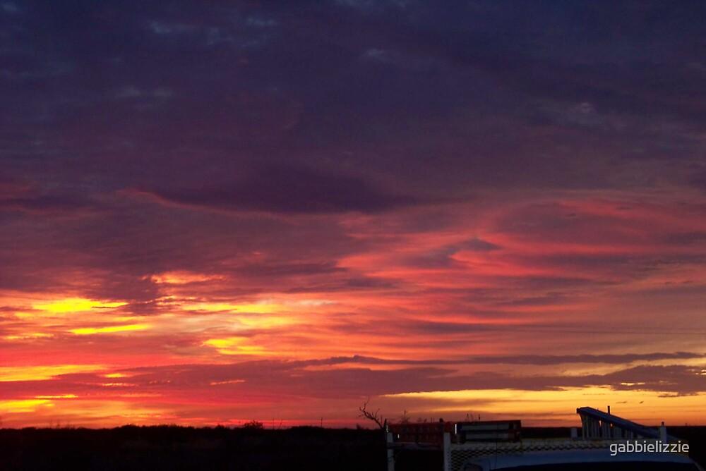 colorfull sunrise in seminole by gabbielizzie