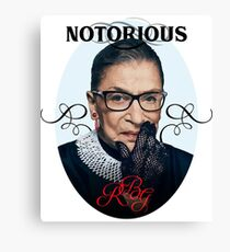 Notorious RBG | RBG T-Shirt Canvas Print