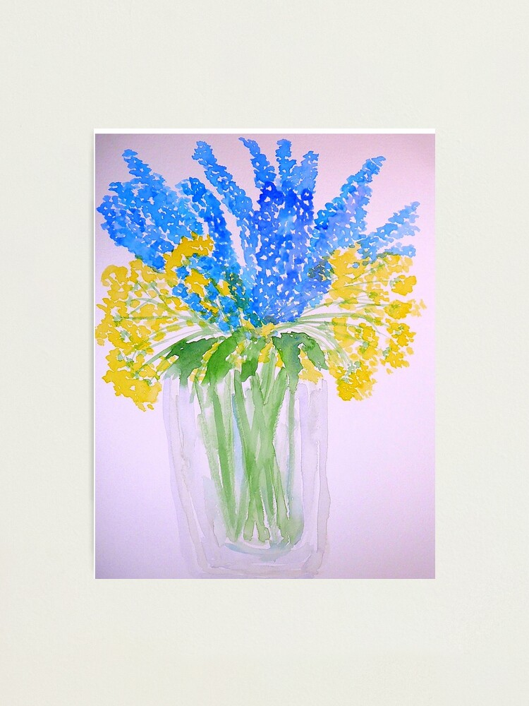 Alternate view of Blue and Yellow Flowers Photographic Print