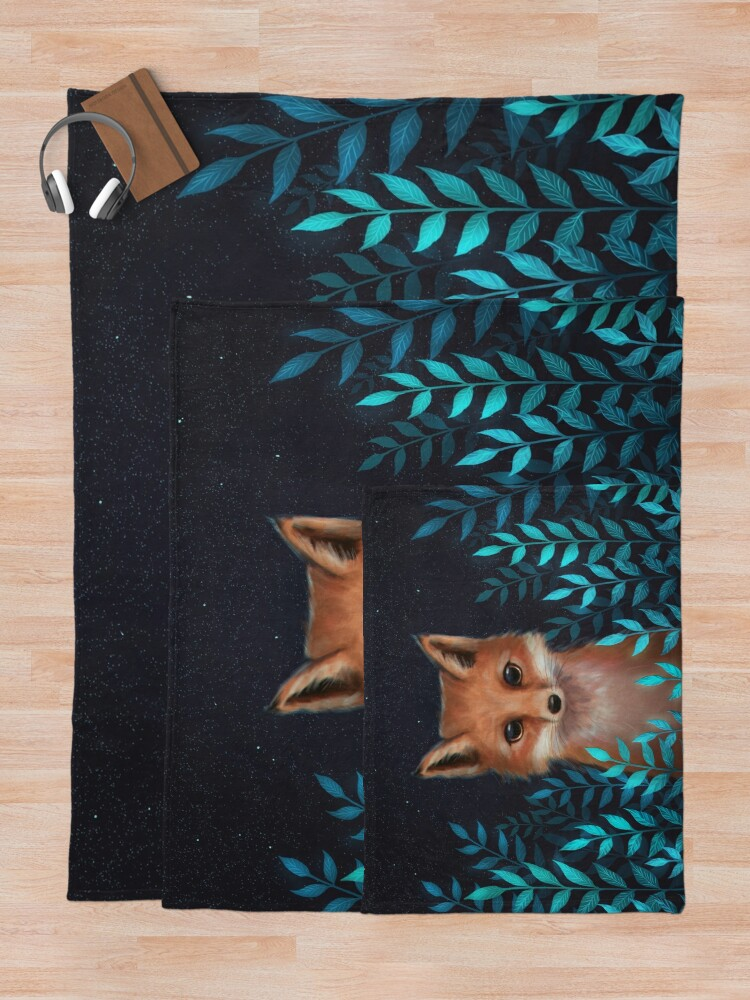 Alternate view of Fox Throw Blanket