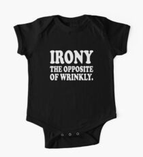 Irony The Opposite Of Wrinkly. One Piece - Short Sleeve