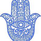 Blue Hamsa Hand of Fatima | Globetrotter by koovox