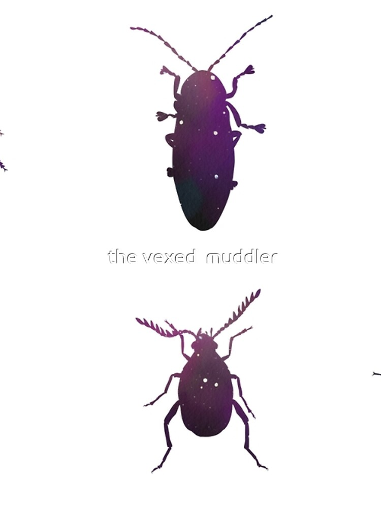 Galaxy Beetle Stickers by thevexedmuddler