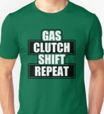 Gas clutch shift repeat Slim Fit T-Shirt