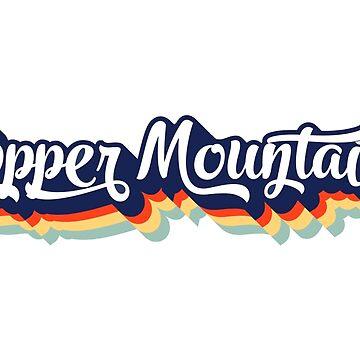 Copper Mountain Colorado Skiing Ski Mountains Typography Vintage 70's by MyHandmadeSigns