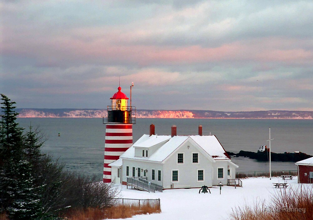 West Quoddy winter sunset by Alana Ranney