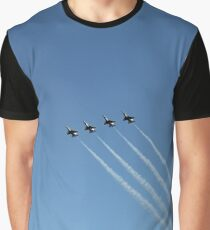 Air show, #AirShow, #sky #airplane #plane #blue #jet #flight #air #flying #aircraft #fly #travel #trail #aeroplane #clouds #white #aviation #cloud #contrail #smoke #glider #transport #high #speed Graphic T-Shirt