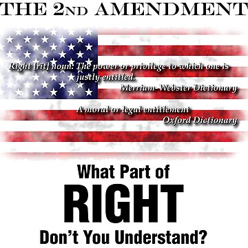 2nd Amendment - What Part of RIGHT Don't You Understand? by MDBMerch