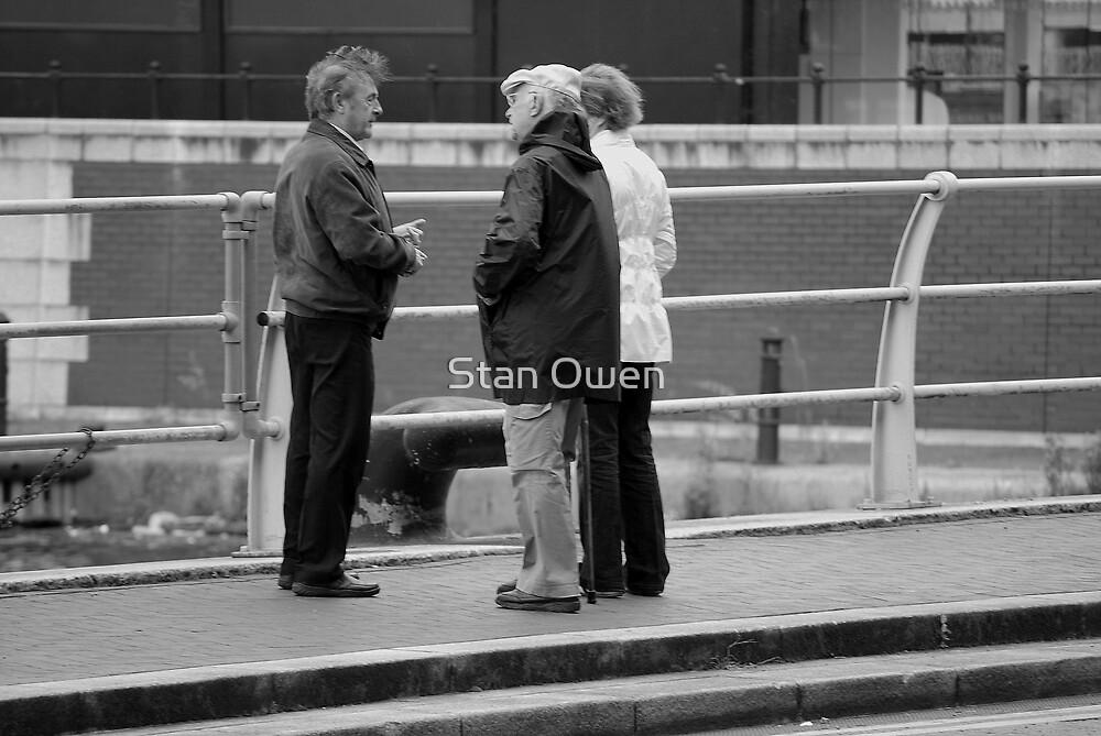 Three People Talking. by Stan Owen
