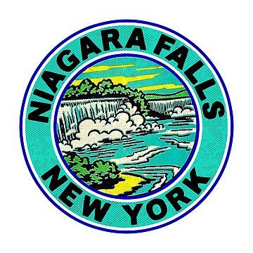 Niagara Falls New York VintageTravel by MyHandmadeSigns