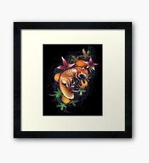 Incredible Hand-Drawn Halloween Skeleton Fox Framed Print