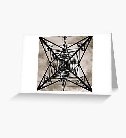 Pylonic Geometry II Greeting Card