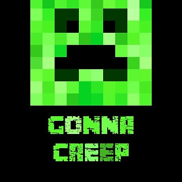Creeper Face Pixel Art Pattern. Minecraft Fan Design. by -WaD-