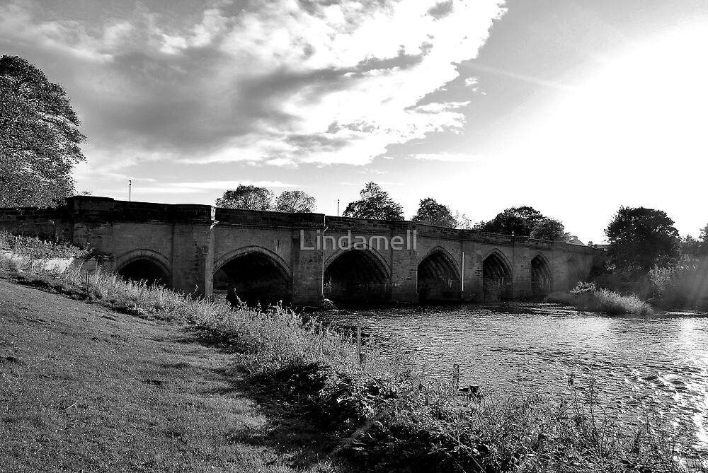 Bridge across the River Tees by Lindamell