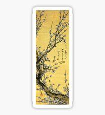 'Blühender Pflaume' von Katsushika Hokusai (Reproduktion) Sticker