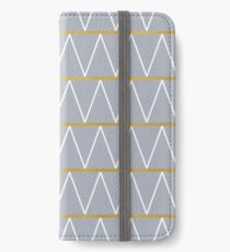Gold and grey zigzag iPhone Wallet/Case/Skin