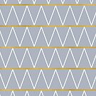 Gold and grey zigzag by AbsentisDesigns