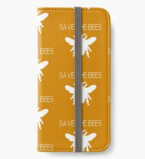 Save the Bees - Computer Pixel Bee iPhone Wallet/Case/Skin