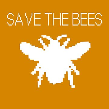 Save the Bees - Computer Pixel Bee by jitterfly