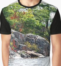 Hint Of Fall On The Rocks Graphic T-Shirt
