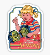 You Can Learn Sewing Sticker