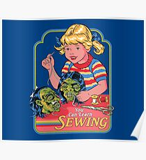 You Can Learn Sewing Poster