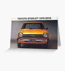 Toyota Starlet 40 Jahre Grußkarte