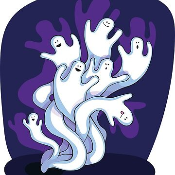 Halloween Ghosts Violet by MartinV96