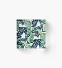 Banana Leaves Acrylic Block
